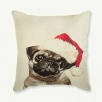 Cushion -Christmas Pug