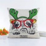 Cushion -Reindeer Pug