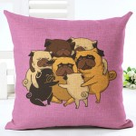 Cushion Pink Pug Hugs