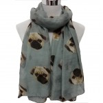 Pug Wrap-Blue/Grey