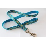 April Anne's Aqua- Lead-Double Lead- Seat Belt