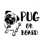 Sticker-Pug on Board