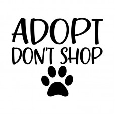 Sticker-Adopt Don't Shop