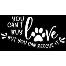 Sticker- You Can't Buy Love...(Swirl)