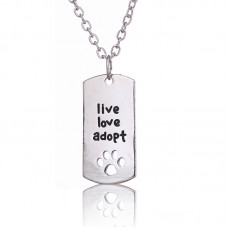 Necklace- live, love adopt- FREE POSTAGE